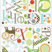 Border Book Animal Alphabet Appliques RMK1440SCS