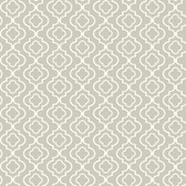 Kitchen & Bath Small Trellis Cloud Grey-White Wallpaper KH7088