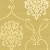 DL30444 - Accents Suzette Light Green Modern Damask Wallpaper