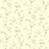Kitchen & BathDocument Vine Pastel-Eggshell Wallpaper SM8581