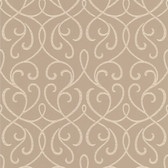 DL30449 - Accents Alouette Beige Mod Swirl Wallpaper
