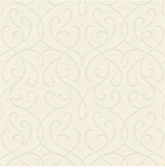DL30450 - Accents Alouette White Mod Swirl Wallpaper
