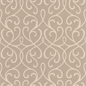 DL30451 - Accents Alouette Taupe Mod Swirl Wallpaper