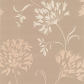 DL30457 - Accents Nerida Taupe Floral Silhouette Wallpaper