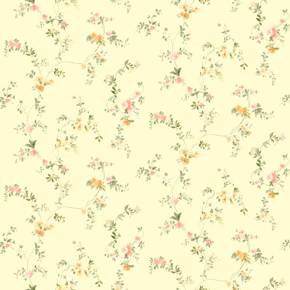 Kitchen Bathdocument Vine Orange Yellow Wallpaper Sm8584