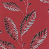 DL30465 - Accents Aubrey Red Modern Leaf Trail Wallpaper