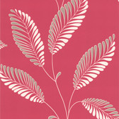 DL30466 - Accents Aubrey Pink Modern Leaf Trail Wallpaper