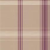 DL30475 - Accents Oskar Purple Plaid Wallpaper