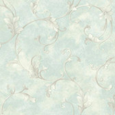 ARB67512 Arbor Rose Voluta Acanthus Scroll Sapphire Wallpaper