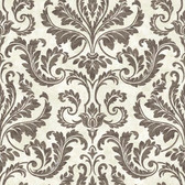 ARB67541 Arbor Rose Finley Regal Damask Shadow Wallpaper