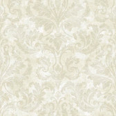 ARB67542 Arbor Rose Finley Regal Damask Oyster Wallpaper