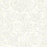 ARB67543 Arbor Rose Finley Regal Damask Snow Wallpaper