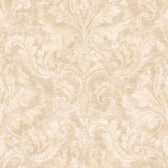 ARB67547 Arbor Rose Finley Regal Damask Tan Wallpaper