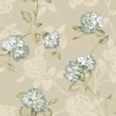 ARB67556 Arbor Rose Floral Trail Sapphire Wallpaper