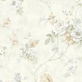 ARB67503 Arbor Rose Floral Parchment Wallpaper