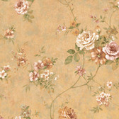 ARB67504 Arbor Rose Floral Apricot Wallpaper