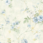 ARB67505 Arbor Rose Floral Azure Wallpaper