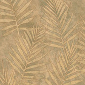 ARB67534 Arbor Rose Grand Palms Leaves Flaxen Wallpaper