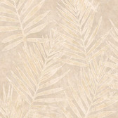 ARB67535 Arbor Rose Grand Palms Leaves Sepia Wallpaper