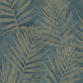 ARB67538 Arbor Rose Grand Palms Leaves Spruce Wallpaper