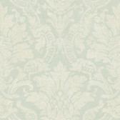 AL13655 Cynthia Blue Distressed Damask Wallpaper