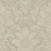 AL13656 Cynthia Charcoal Distressed Damask Wallpaper