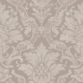 AL13657 Cynthia Purple Distressed Damask Wallpaper