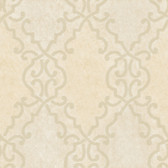 AL13681 Bernaud Cream Persian Diamond Wallpaper
