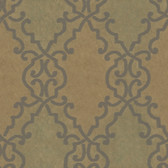 AL13684 Bernaud Copper Persian Diamond Wallpaper