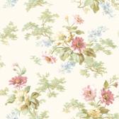 AL13691 Julie Rose Floral Boquet Wallpaper