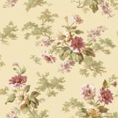 AL13693 Julie Sand Floral Bouquet Wallpaper