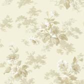 AL13695 Julie Grey Floral Bouquet Wallpaper