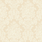 AL13702 Illume Beige Damask Wallpaper