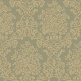 AL13705 Illume Green Damask Wallpaper