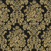 AL13706 Illume Black Damask Wallpaper
