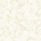 AL13711 Edith White Acanthus Brushstroke Wallpaper