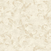 AL13712 Edith Brown Acanthus Brushstroke Wallpaper