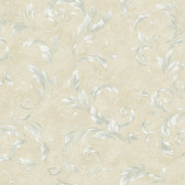AL13714 Edith Blue Acanthus Brushstroke Wallpaper