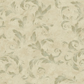 AL13715 Edith Green Acanthus Brushstroke Wallpaper