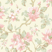 Berkin Large Floral Vine Pink-Pearl Wallpaper AL13721
