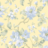 AL13722 Berkin Butter Large Floral Vine Wallpaper