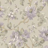 Berkin Large Floral Vine Hazelwood-Heather Wallpaper AL13723