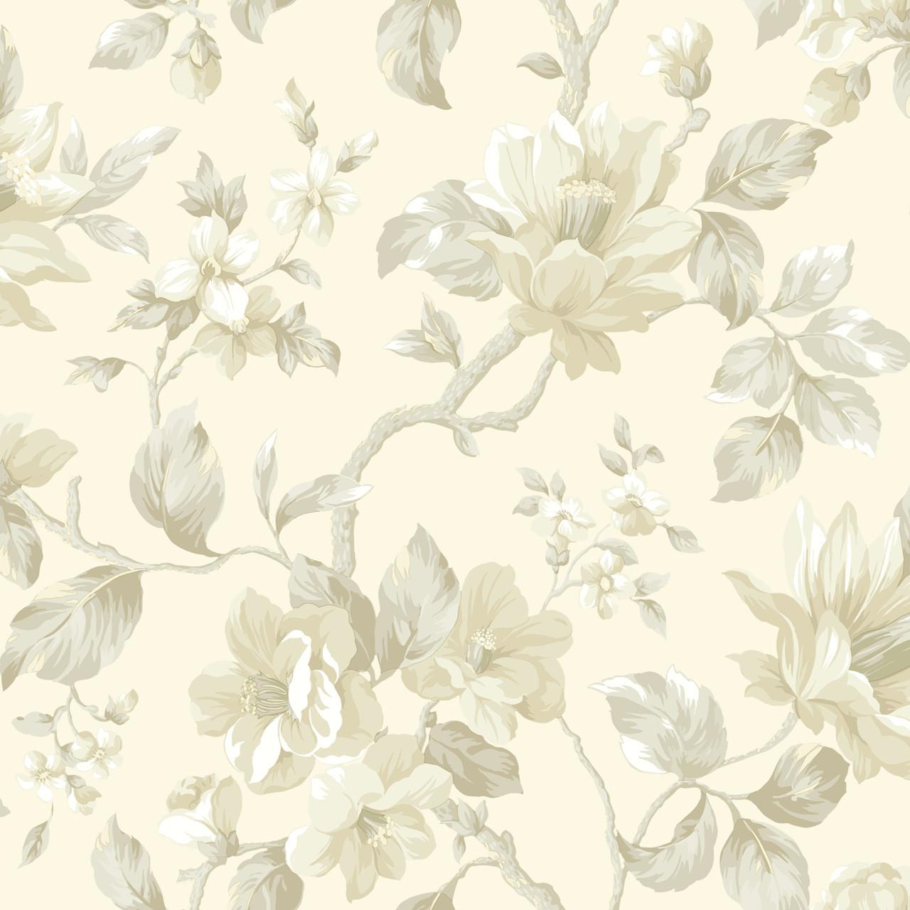 Al13725 Berkin Rose Large Floral Vine Wallpaper