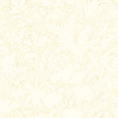 Fauna Silhouette Leaves Cream Wallpaper AL13751