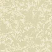 AL13755 Fauna Olive Silhouette Leaves Wallpaper