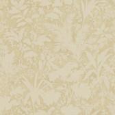 AL13756 Fauna Mauve Silhouette Leaves Wallpaper