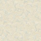 AL13763 Vlad Blue Acanthus Vine Wallpaper