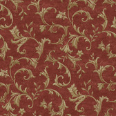 AL13765 Vlad Red Acanthus Vine Wallpaper