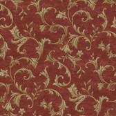 AL13765 Vlad Red Acanthus Vine Wallpaper