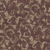 AL13766 Vlad Purple Acanthus Vine Wallpaper